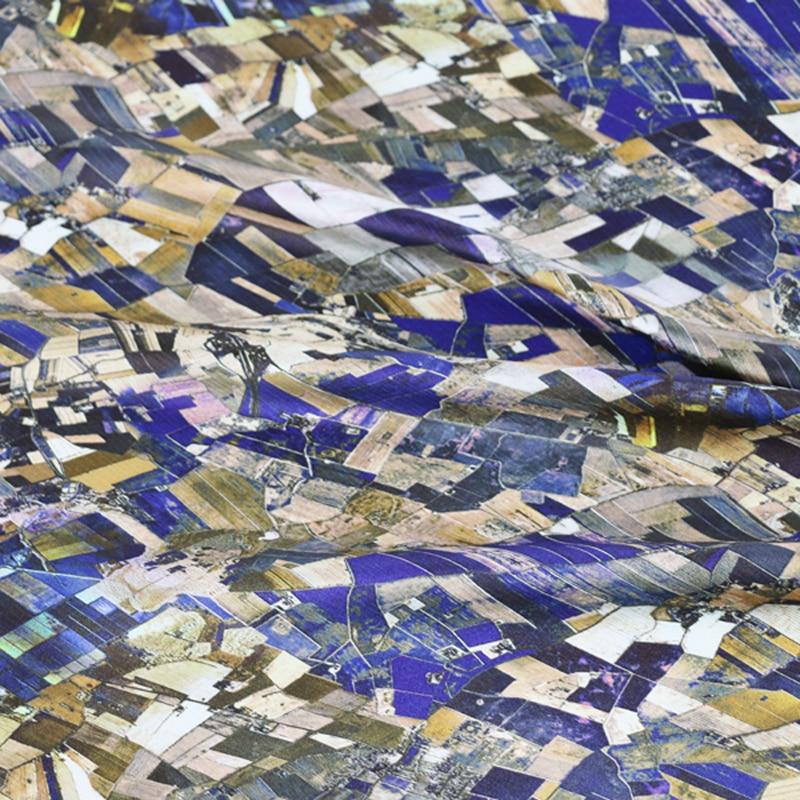 Tecido de seda geométrica do cetim para