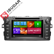 Dos Din 7 Pulgadas de Coches Reproductor de DVD Para TOYOTA/AURIS/Altis/COROLLA 2012-Con GPS de Navegación de Radio de Bluetooth IPOD FM/AM Mapas