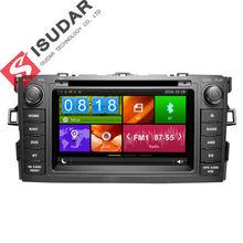 Dwa Din 7 Cal Samochodowy Odtwarzacz DVD Dla TOYOTA/AURIS/Altis/COROLLA 2012-Z GPS Nawigacji Bluetooth IPOD Radio FM/AM Mapy