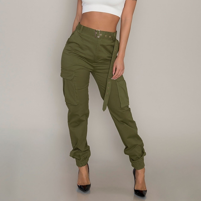 Women's Trouser Ladies Pants Holiday Summer High Waist Bottoms Party Solid Jogger Slim Fit Slacks Cargo