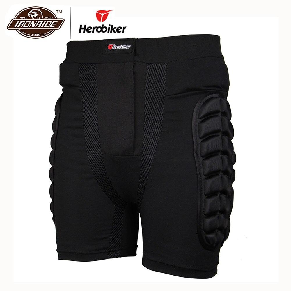 Herobiker אופנוע שריון יריות לשני המינים חיצוני ספורט סקי מכנסיים קצרים ירך הגנת אופנוע מכנסיים Motorcross ציוד מגן