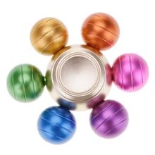 ที่มีสีสันหกลูกปัดอยู่ไม่สุขมือนิ้วปินเนอร์EDCโฟกัสของเล่นความเร็วแบริ่งสำหรับเด็ก