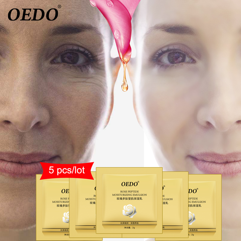 5pc Rose Peptide Moisturizing Emulsion Skin Care Whitening Face Care Anti-Aging Anti Wrinkle Cream Oil-control Repair Water Lock
