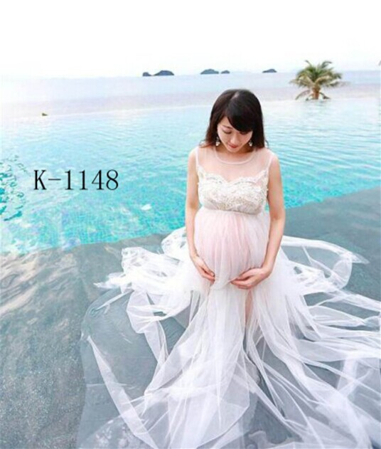 Maternity Pregnant women Photography Props White Beautiful Long Fairy Dress Princess Photo Shoot See-through Romantic Baby show maternity pregnant women photography fashion props long dress white romatic see through personal portrait nightdress size s l