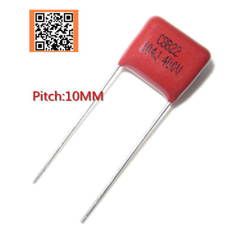10pcs 400V 0.1UF 100NF 10mm 104J 0.22UF 220NF 224J 15mm 0.27UF 270NF 274J Pitch 10mm 400V 5% CBB Polypropylene Film Capacitor