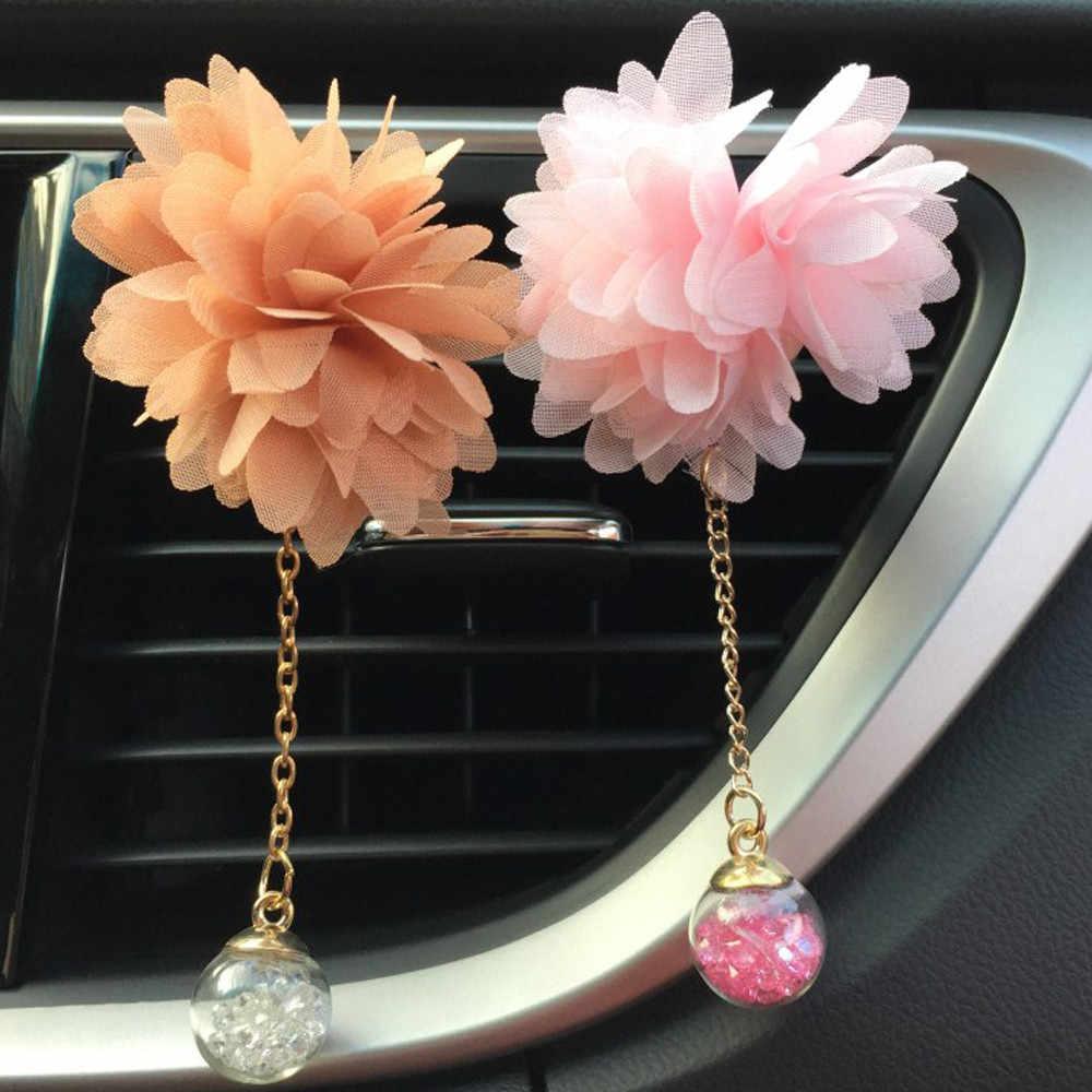 Saída de Ar Do Carro Perfume Perfumado de Flores de plástico Flor Ambientador Difusor do Óleo Essencial Difusor Do Carro Clipe Carro Styling # YL1
