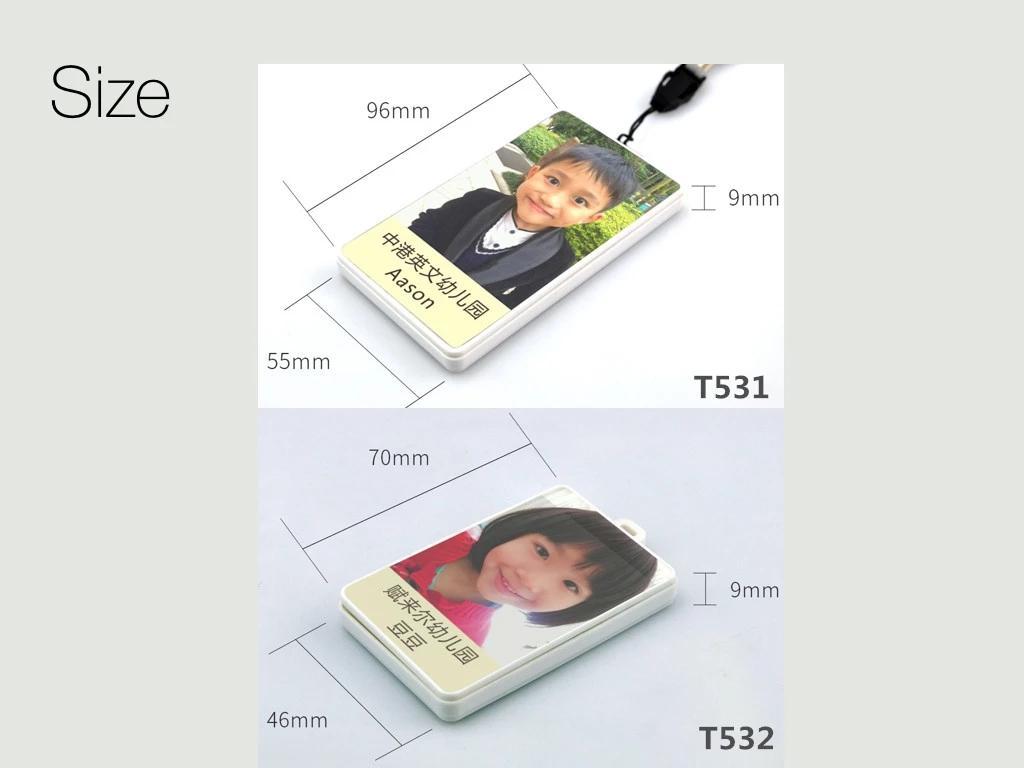 T531/T532 Bracelet carte d'identité GPS Tracker enfants SOS GPRS GSM SMS localisateur logiciel de suivi gratuit localizador
