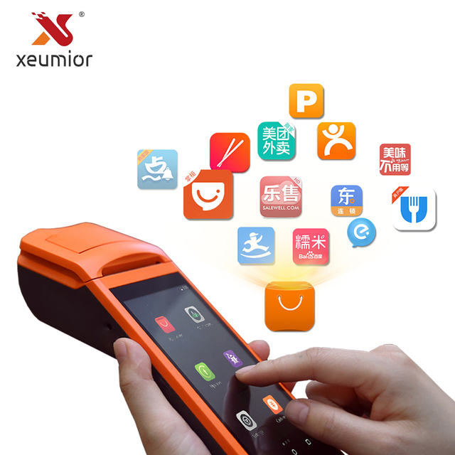 US $179 0 |Free SDK Sunmi Android Mini Mobile Pos Thermal Printer Handheld  POS Terminal Wireless Bluetooth barcode Scanner Wifi Android PDA-in