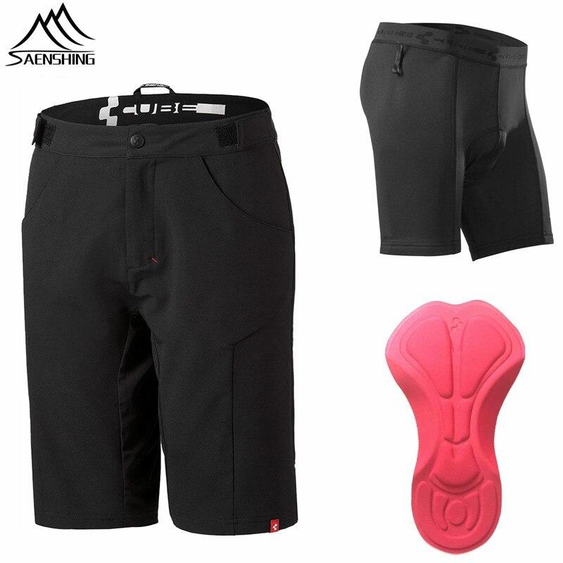 SAENSHING куб шорты велосипедные шорты 3D мягкий нижнее белье велосипед горные MTB шорты Спорт короткие Бермуды шорты ciclismo куб Втт