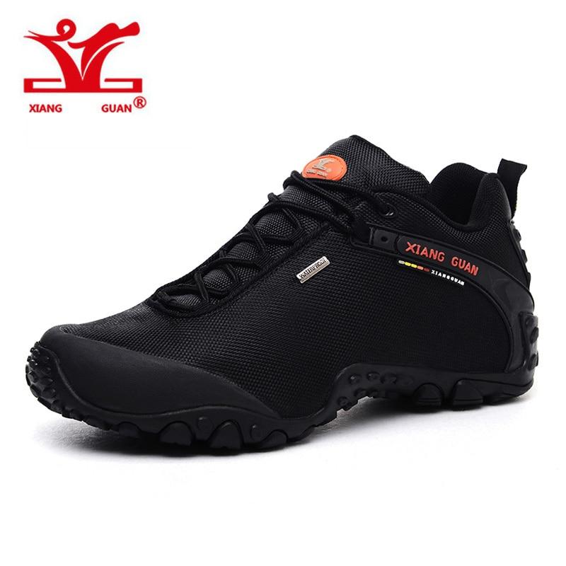 2017 XIANGGUAN Outdoor Men Hiking Shoes Waterproof Climbing Mountaineer For Man Trekking Trainer Sport Walking Sneaker 40-48 2016 man women s brand hiking shoes climbing outdoor waterproof river trekking shoes