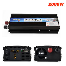 2000W Auto Power Inverter Dc 12V / 24 V Naar Ac 220V Car Charger Converter 12 / 24 Volt Tot 110 Volt