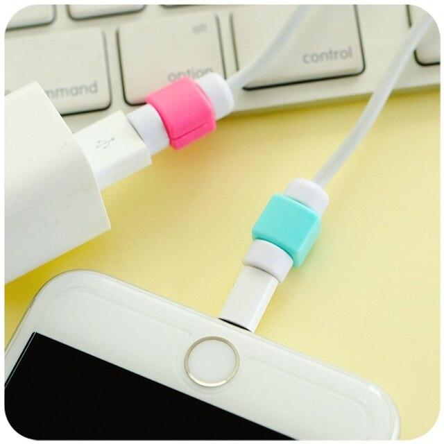 Obudowa do kabla kolorowe końcówki  iPhone 7 7Plus 6 6S 5 5S 5C SE 4 4S Samsung S4 S5 S6 S7