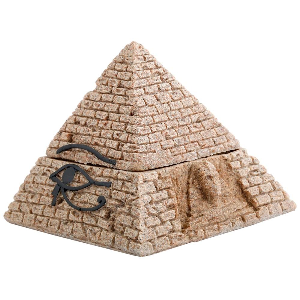 Sunyik sandstone egyptian pyramid statue jewelry trinket