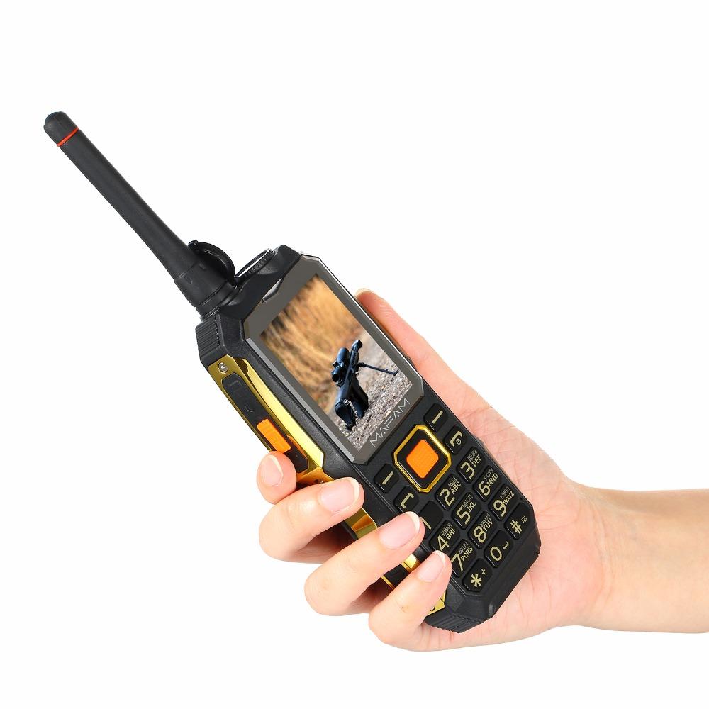 MAFAM M2 Russian Arabic 4000mAh Dual SIM Cards UHF Walkie Talkie Tachograph wireless FM rugged Mobile <font><b>Power</b></font> Bank Phone P156