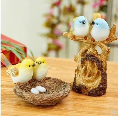 Bird crafts, home decorations, desktop accessories, creative wedding decoration small gifts 6