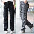 women winter thicken warm military combat trouser Ladies girl straight Multi-pocket denim overalls cargo pants