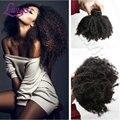 Lwigs Afro Rizado Clip Ins Brasileño Afro Rizado Rizado Clip la Extensión Del Pelo Humano Virginal Rizado Extensiones de Cabello Clip de Negro mujeres