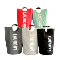 2019 dirty clothes storage bag hamper foldable oxford cloth tote bag home laundry basket