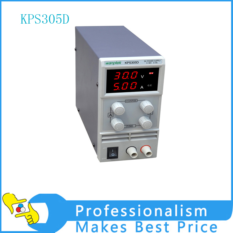305D Adjustable High precision double LED display switch DC Power Supply protection function 0-30V/0-5A 110V-230V 0.1V/0.01A EU 30v 5a dc regulated power high precision adjustable supply switch power supply maintenance protection function kps305df