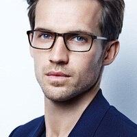 Denmark Brand Titanium Optical Glasses Frame Men Square Myopia Eye Glass Frame Prescription Eyeglasses Korean Screwless Eyewear