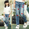 Kids Pants for Girls Jeans Super Quality Denim Trousers for Girls Autumn New Brand Trousers Spring Children Cartoon Lips Pants 8