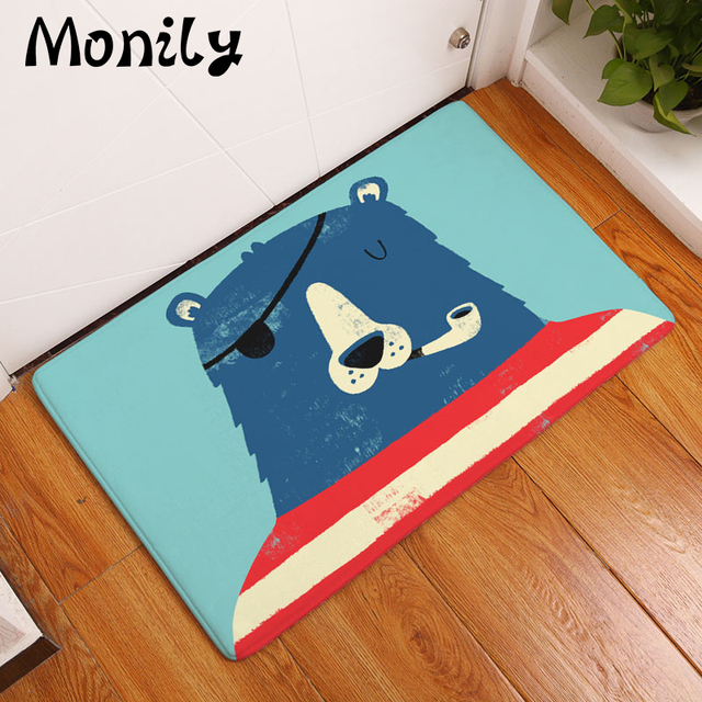 Monily Nordic Flannel Waterproof Anti-Slip Door Mat Cartoon Sea Animal Carpet Bedroom Rug Decorative & Monily Nordic Flannel Waterproof Anti Slip Door Mat Cartoon Sea ...