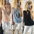 Nova Moda Das Mulheres T-shirt Das Senhoras Sem Mangas Verão Casual Solto Tees Tops