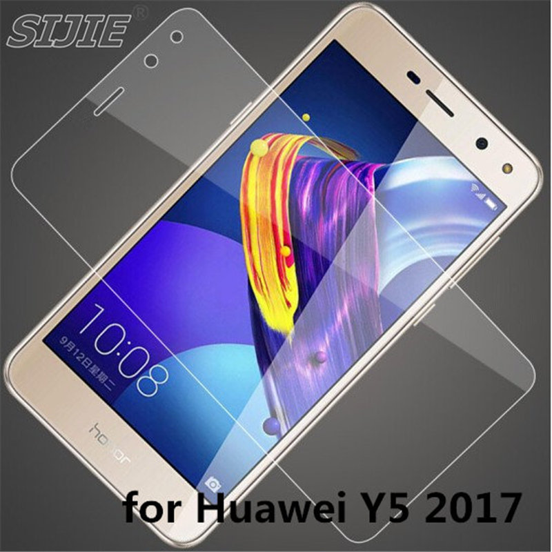 Tempered Glass For Huawei Y5 2017 Y 5 Screen protective cover smartphone crystals Transparent toughened case on crystals clear smartphone
