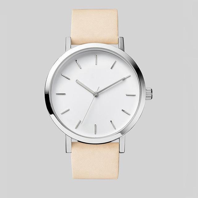 Minimalism Couple Quartz Watches Simple Leather Strap Lover Wrist Watches Casual Men Women Dress Clocks Relogio Masculino Saat