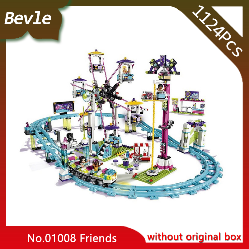 Bevle Store LEPIN 01008 1124pcs Friends series Ferris wheel playground roller coaster Building Block Bricks For Children Toys kromatech mg81007 a