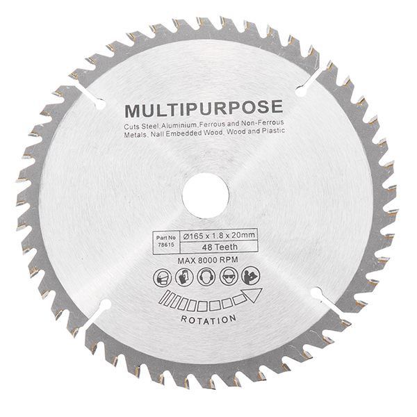 165mm 48 Teeth Circular Saw Blade Tungsten Steel Saw Blade For Woodworking Cutting High Quality