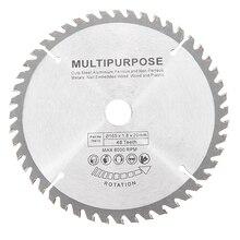 Lâmina de serra circular, 165mm 48 dentes lâmina de serra de aço de tungstênio lâmina para trabalho em madeira de alta qualidade