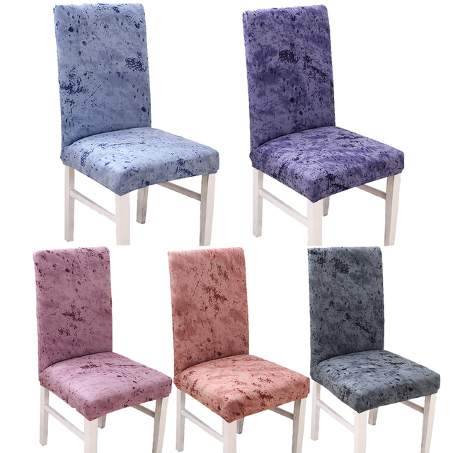 Spandex Stretch Minimalist Solid Color Chair Protective Slipcover Case  Anti Dirty Elastic Dining Banquet Chair