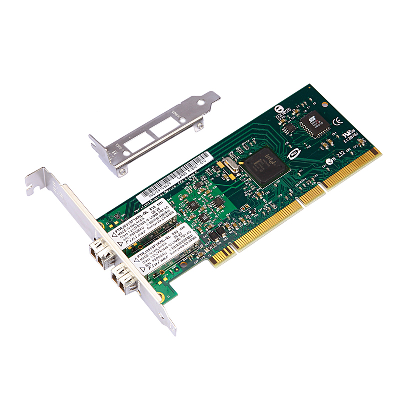 DIEWU 82546MF 82546 PCI-X Gigabit Fiber Network Card NIC w/ intel82546EB/GB PWLA8492MF Dual-port Multi-mode Fiber Module diewu 82545mf pci x gigabit fiber network adapter card nic w intel82545 gm em pwla8490mf single port multi mode fiber module