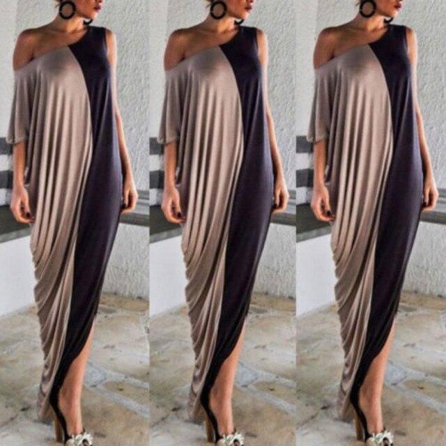 517c1b8bde7b Women Summer Evening Party Beach Patchwork Long Maxi Dress-in ...