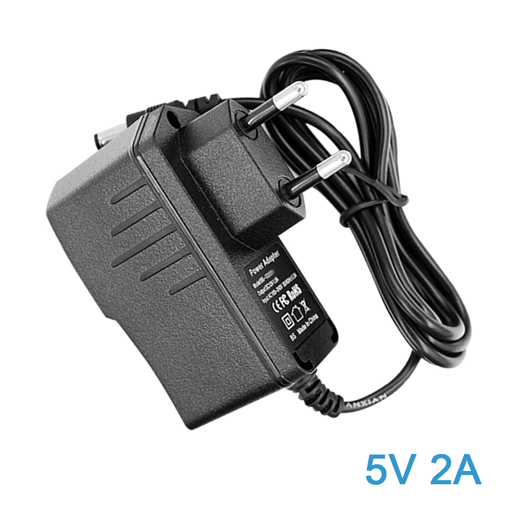 AC to DC Adapter 5V 2A Power Supply Adapter with 1.35mm x 3.5mm Connector Plug AC Charger for CCTV Cameras, Android TV Box yixinke ac power charger adapter for tablet pc black 2 flat pin plug 220v 5v 2a 2 5 x 0 7