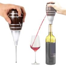 2018 Electric Portable Barrel Shaped Wine Pourer Red Wine Decanter Bottle Pourer Homebrew Pump Wine Aerator Wine Accessories transparent red wine pourer