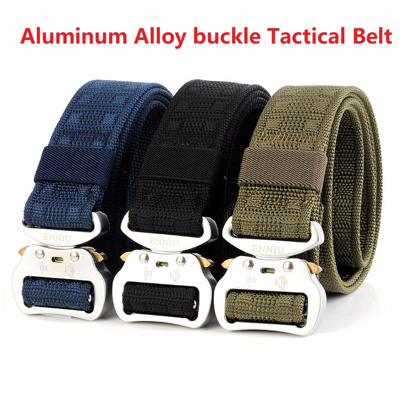 Nice Tactical Nylon 1000d Oxford Waist Belt Zink Alloy Buckle Adjustable Heavy Duty Training Waist Belt Army Belt Sturdy Waistband3.8 Strong Resistance To Heat And Hard Wearing Men's Belts