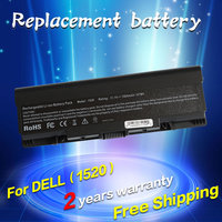 6600mah Replacement Laptop Battery For Dell Vostro 1310 1320 1510 1520 2510 T114C 0N241H N956C N958C