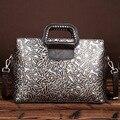 Новый ретро моды ручной работы ластик тисненая кожа сумки сумка сумки на ремне, мода
