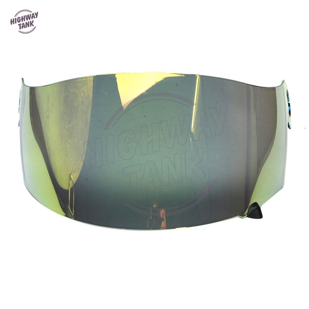 1 PCS Gold Motorcycle Helmet Visor Lens Full Face Shield Case for SUOMY Spec 1R Spec
