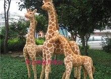 big lovely simulation giraffe toy standing plush doll soft giraffe doll birthday gift about 140cm