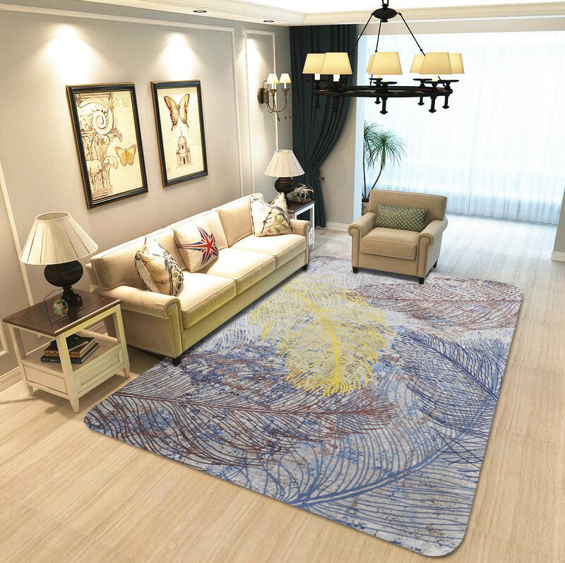 Five Color Feather Crystal Velvet Rugs And Carpets For