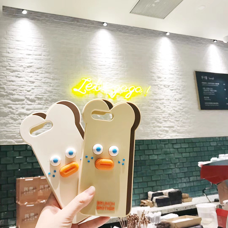 Cute Cartoon Bear Case for iPhone 11 Pro Max XR XS X 8 Plus 7G 6 6S Toast Cases Pout Brunch Sausage Bear Cat Slicone Cover