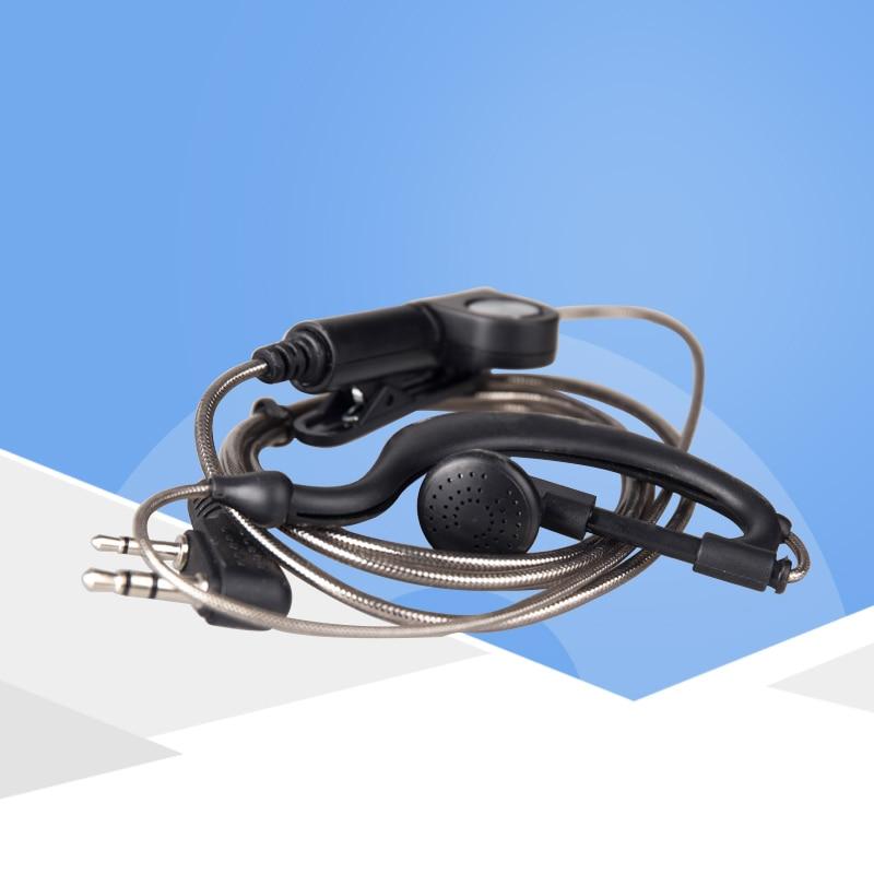KSUN Walkie Talkie Headset B16 Two Way Radio Universal K Head-Ear Headphone Cable Upscale Thick Lines