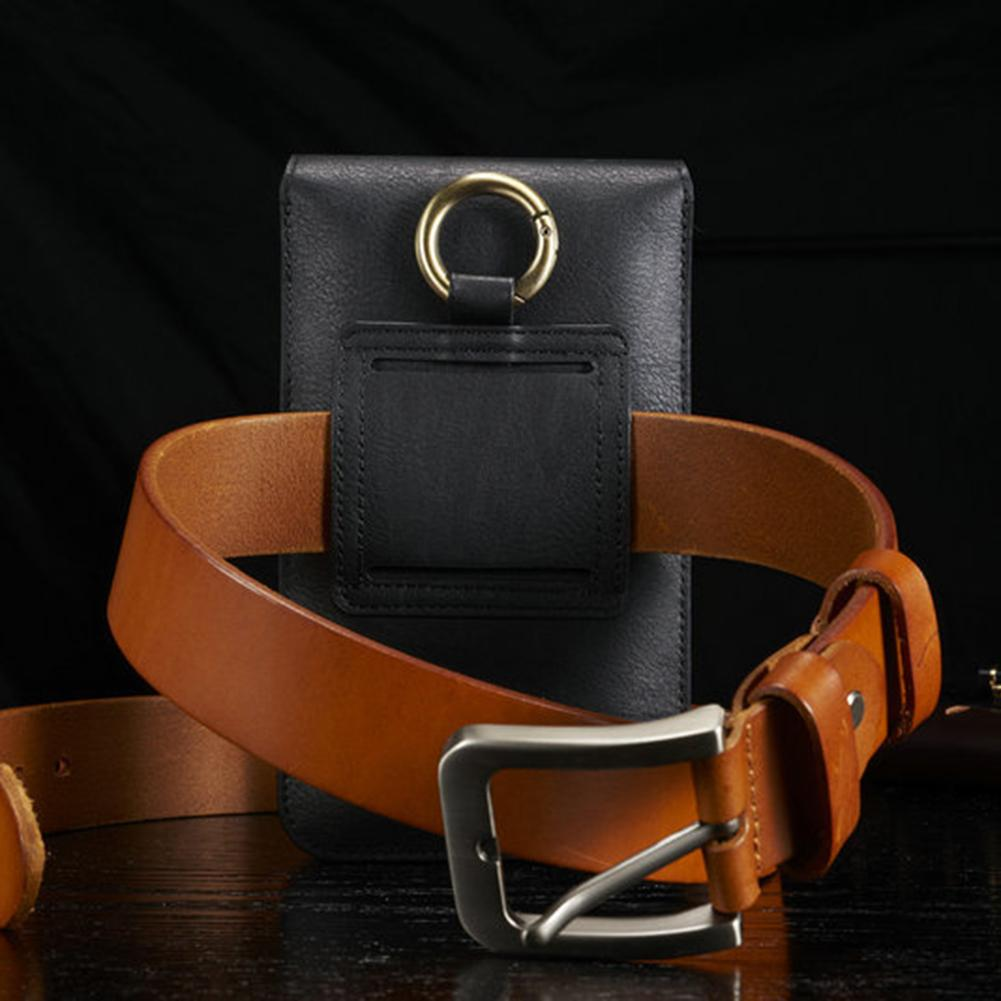 Outdoor Hanging Phone Bag Faux Leather Waist Bag Fanny Pack For IPhone 6P 7P 8P