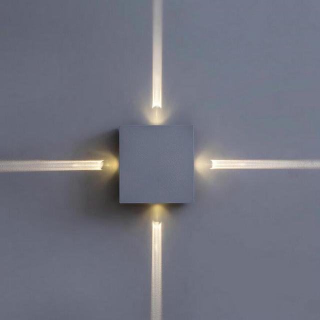 Ac85v 265v Wall Mounted Aluminum Modern Sconce Round Square Designed 4w Cool White Led Light Decoration Home Lighting