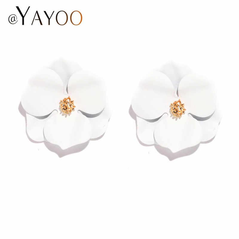 Korean Fashion Ohrring Weibliche 2019 Big Fringe Quaste Ohrringe Für Frauen ZA Erklärung Hochzeit Ohrringe Blume Schmuck