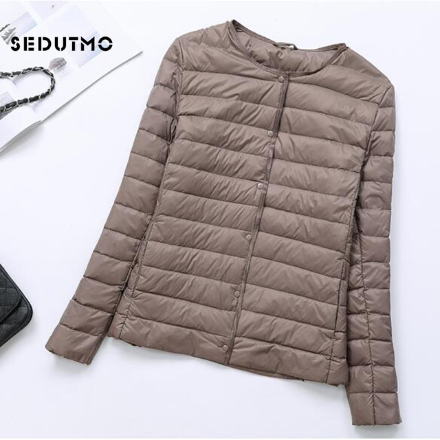 SEDUTMO Winter Women Duck Down Jacket Ultra Light Coat Short Autumn Slim Casual Puffer Outwear ED617 5
