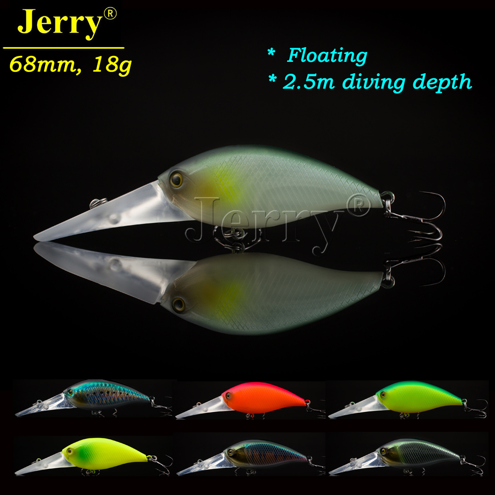 Jerry rattling crankbait fishing tackle hard lure high quality crank bait deep diving fishing lure blank crankbait unpainted hard bait 4cm 4 2g fishing tackle upc703p10
